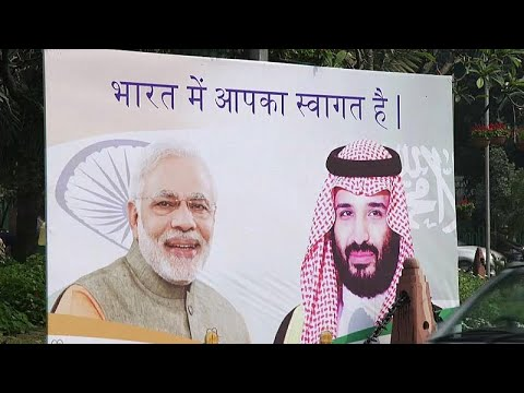شاهد محمد بن سلمان يصل إلى الهند في زيارة تاريخية