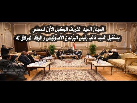شاهد وكيل أول مجلس النواب المصري يستقبل نائب رئيس البرلمان الإندونيسي