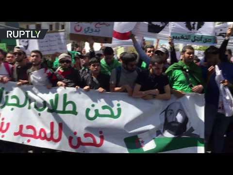 شاهد رئيس المجلس الدستوري الجزائري يقدم استقالته إلى بن صالح
