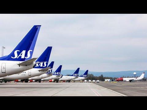 شاهد الخطوط الجوية الإسكندنافية تلغى أكثر من 1200 رحلة