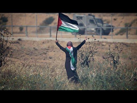 فلسطينيون يحيون ذكرى النكبة بمظاهرات عند السياج الفاصل