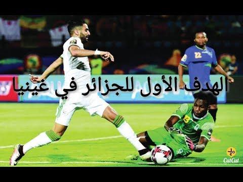 شاهد الهدف الأول لمنتخب الجزائر في مرمى غينيا بقدم يوسف بلايلي