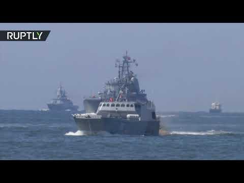 شاهد إنزال قوة من مشاة البحرية في كالينينغراد الروسية