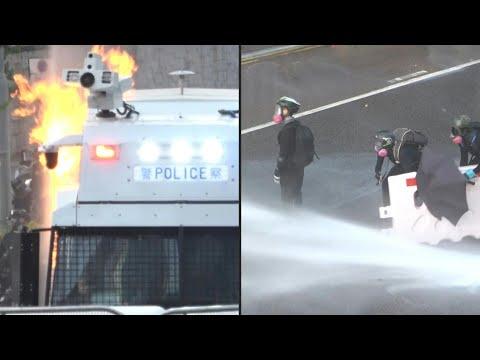 شاهد اندلاع أعمال عنف جديدة في هونع كونغ وسط استخدام للغاز المسيّل للدموع