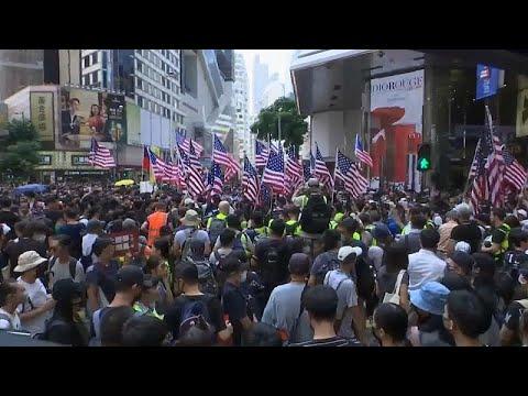 شاهد مواجهات مع الشرطة في احتجاجات هونغ كونغ
