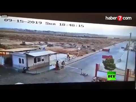 شاهد لحظة انفجار مفخخة في بلدة الراعي شمال سورية