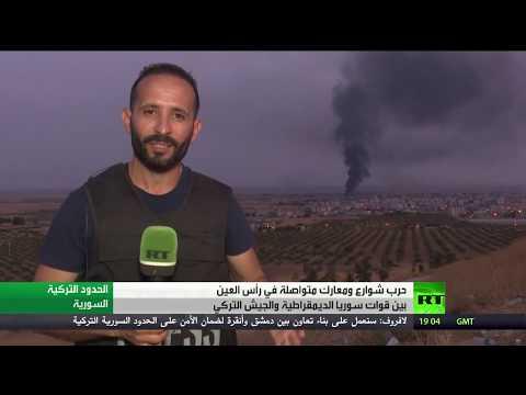 شاهد الجيش السوري يدخل عين العرب شمال البلاد