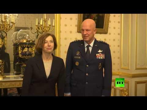 شاهد وزيرة الدفاع الفرنسية تستقبل قائد القوات الفضائية الأميركية
