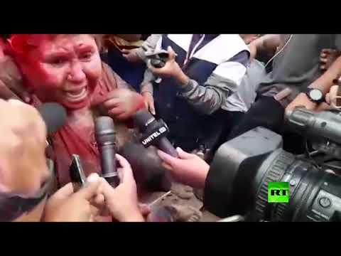 شاهد متظاهرون يهاجمون عمدة ويجبرونها على الاستقالة في بوليفيا