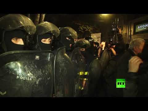 شاهد احتجاجات عنيفة في جورجيا ضد عرض فيلم عن المثليين