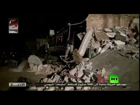 شاهد اللقطات الأولى للغارات الإسرائيلية على ضواحي دمشق