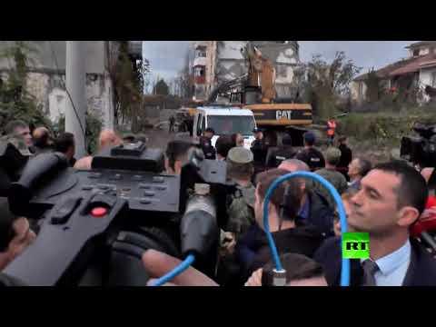 شاهد هزات أرضية ضربت ألبانيا من جديد تقطع كلمة رئيس كوسوفو