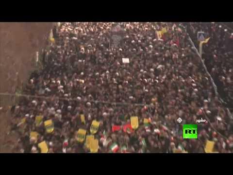 شاهد مسيرات حاشدة في مدن إيرانية تأييدًا للسلطة