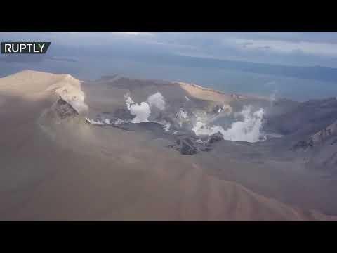 شاهد لقطات من الجو لـ بركان تال الثائر في الفلبين