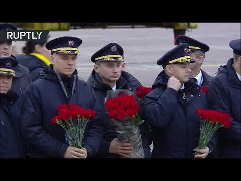 شاهد وصول رفات ضحايا طائرة الركاب الأوكرانية إلى كييف