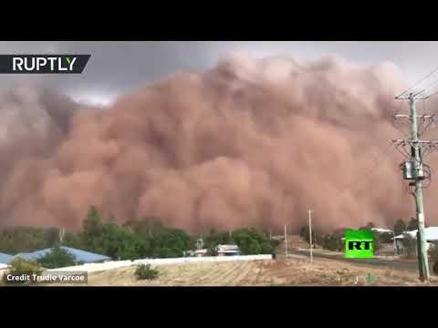 شاهد لقطات جديدة لعاصفة ترابية في أستراليا