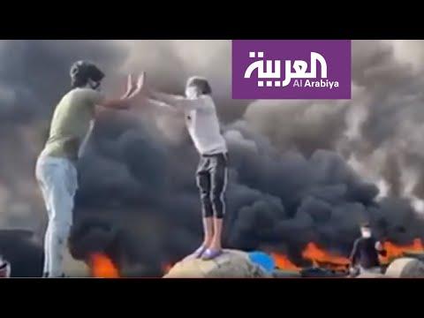 شاهد لقطات طريفة في تظاهرات العراق اليوم