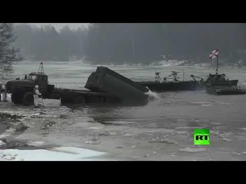 شاهد مناورات للوحدات الهندسية العسكرية في ضواحي موسكو