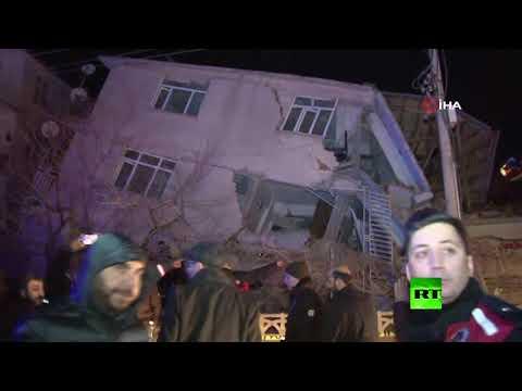 شاهد زلزال يضرب شرق تركيا وحصيلة الضحايا في ارتفاع