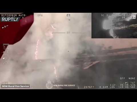 شاهد تصوير جوي يظهر حرائق ضخمة في بريدبو