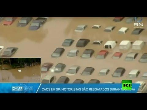 شاهد ما تحولت إليه مدينة ساو باولو البرازيلية نتيجة الأمطار الغزيرة