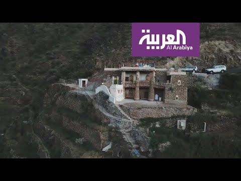 شاهد قصر أثري يجسّد تراث قرية الحضن جنوب السعودية