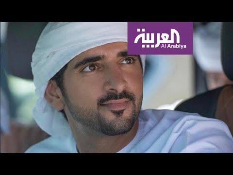 شاهد إبل تلاطف ولي عهد دبي في فيديو طريف