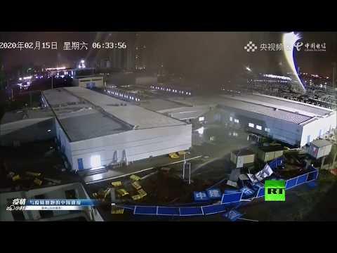 شاهد بث مباشر من مكان تشييد مستشفى جديد في ووهان الصينية