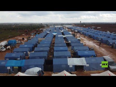 شاهد لقطات جوية لمخيمات اللاجئين