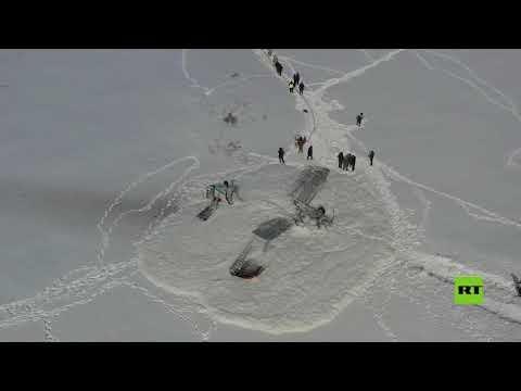 شاهد هبوط اضطراري لطائرة من طراز إن  ٢  في كازاخستان