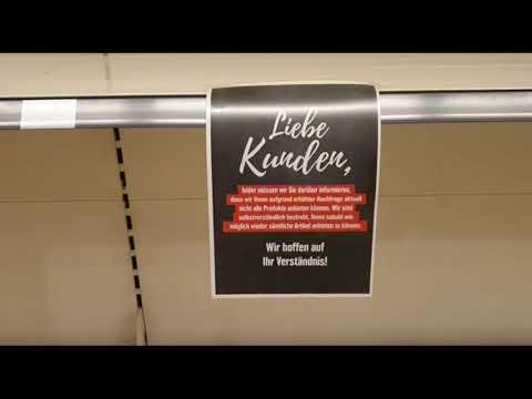 شاهد خلو رفوف المحال التجارية في ألمانيا بسبب تفشي فيروس الكورونا