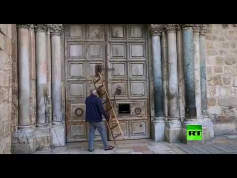 شاهد كنيسة القيامة تُغلق أبوابها بعد المسجد الأقصى