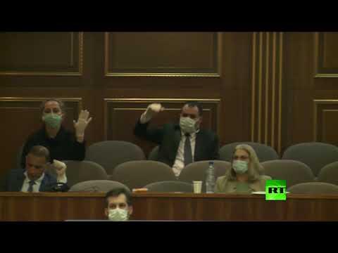شاهد مشرعو كوسوفو يصوتون لحجب الثقة عن الحكومة