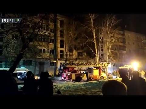 شاهد انفجار في مبنى سكني بمدينة ماغنيتوغورسك الروسية