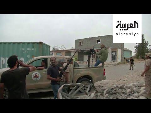 شاهد ترهونة الليبية تتعرض لقصف متواصل بدعم تركي