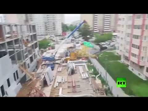 شاهد عاصفة عنيفة تضرب مقاطعة روسية وتودي بحياة 3 أشخاص