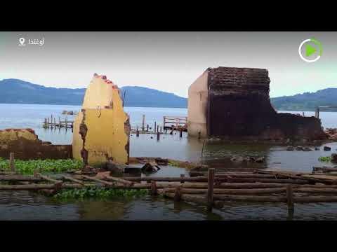 شاهد فيضانات هائلة تجرف منازل المئات في أوغندا