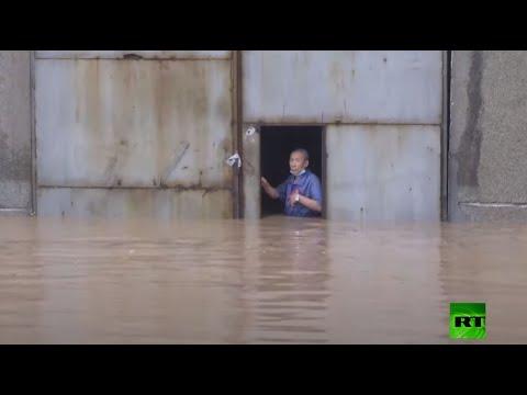 شاهد الفيضانات تُكبد الصين خسائر فادحة وإجلاء آلاف السكان