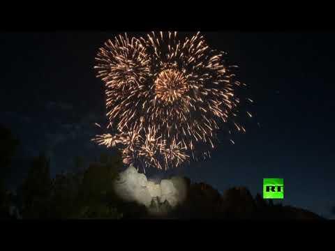شاهد احتفالات عيد الاستقلال في الولايات المتحدة بجبل راشمور