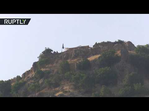شاهد العراق يقيم تحصينات على الحدود مع تركيا بالقرب من باطوفا