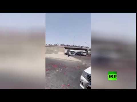 شاهد فلاحون عراقيون يرمون بضاعتهم في الشارع