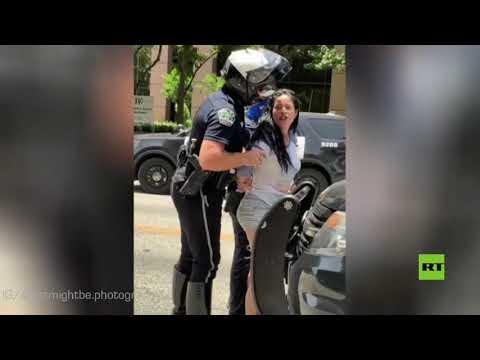 شاهد ضابط أميركي يتحرش بسيدة أثناء اعتقالها وتفتيشها بحثًا عن أسلحة