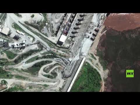 شاهد صور أقمار صناعية تظهر ارتفاع مياه خزان سد النهضة الإثيوبي