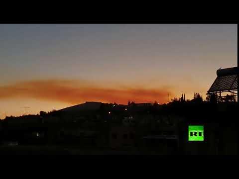 شاهد كاميرات العاصمة السورية ترصد الدخان الناجم عن انفجار بيروت