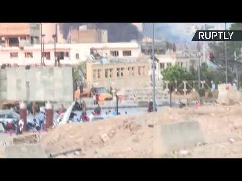 شاهد آثار الدمار جراء الانفجار الكبير في العاصمة اللبنانية بيروت