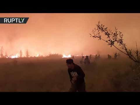 شاهد لقطات من بلدة سيبيرية طوقتها الحرائق