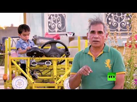 شاهد مهندس عراقي يستغل عزلة كورونا في ابتكار سيارة صديقة للبيئة