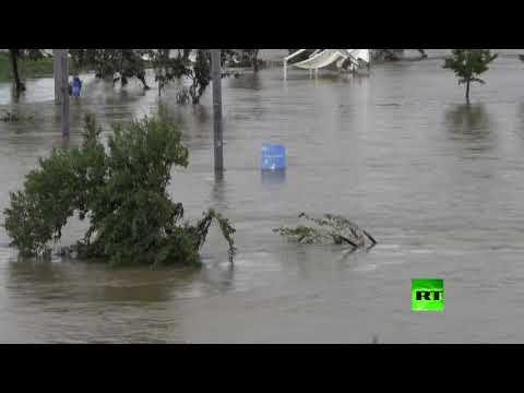 شاهد كارثة في كوريا الجنوبية بسبب الفيضانات التي ضربت البلاد