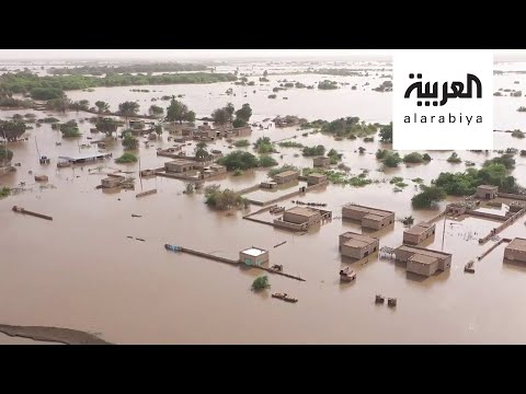 شاهد لقطات مؤلمة للدمار الذي خلفه الفيضان بالسودان