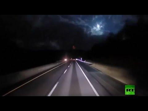شاهد كرة نارية تُضيء ليل ولايتي بنسلفانيا وأوهايو الأميركيتين